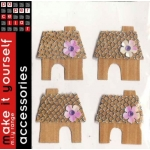 Pack of Stick On Embellishments. WOODEN HOUSE