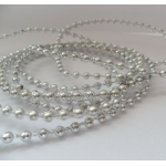 By The Metre.... Fine Beadstring Embellishment 3mm SILVER