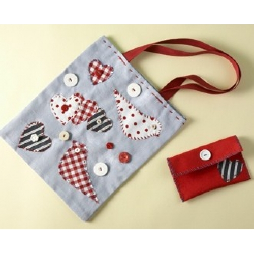 BUTTON BAG Sewing Kit  Contains all you need to make a