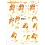 3D Decoupage Sheet PRAYING GIRLS Christening, Confirmation Communion