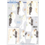 3D Decoupage Sheet WEDDING DAY First Dance