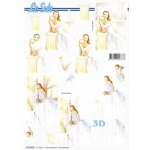 3D Decoupage Sheet WEDDING DAY Bride, or Thank You Bridesmaid