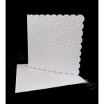 Pack of 6 Medium Snowflake Embossed Square Cards with 6x6 envs