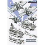 3D Die Cut Decoupage Sheet, ALL ABOARD, Navy, Forces