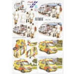 3D Decoupage Sheet HOSPITAL Nursing Paramedics