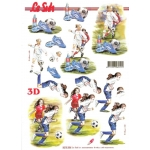 3D Decoupage Sheet GIRLS LADIES FOOTBALL