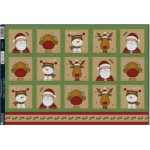 Kanban CHRISTMAS CUTIES Die cut Toppers Sheet A4