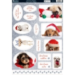 Kanban CHRISTMAS PUPPIES Die cut Toppers Sheet A4