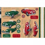 Kanban Die cut Toppers Sheet RETRO SPORTS CAR