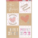 Kanban YOU'RE ENGAGED Die cut Toppers Sheet A4
