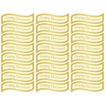 Creative Die cut HAPPY CHRISTMAS Greeting Sentiment Banners Gold & Cream