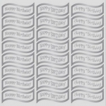 Creative Die cut HAPPY BIRTHDAY Greeting Banners, Silver & White