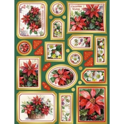 Creative Die Cut Toppers & Elements A4, Christmas Poinsettias