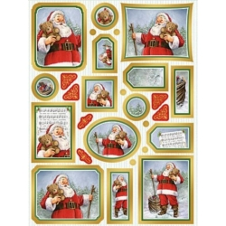 Creative Die Cut Toppers & Elements A4, Father Christmas GOLD