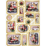 Creative Die Cut Toppers & Elements A4, Santa's Car