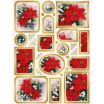 Creative Die Cut Toppers & Elements A4, Poinsettias