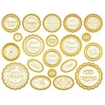 Die cut BOTTLE TOP Gold White Banners & Sentiments MIXED CHRISTMAS