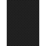 A4 Card, Small White dots on BLACK, 240gsm Polka Dot Card