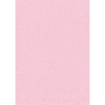 A4 Card,  Small White dots on PINK, 240gsm Polka Dot Card