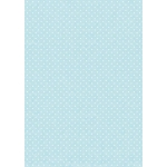 A4 Card,  Small White dots on BLUE, 240gsm Polka Dot Card