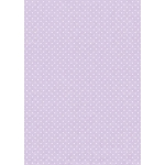 A4 Card,  Small White dots on Pale Purple, LILAC 240gsm Polka Dot Card