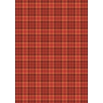 A4 Backing Background Card RED Tartan Check 240gsm