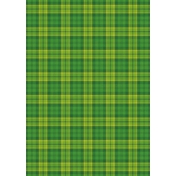 A4 Backing Background Card GREEN Tartan Check 240gsm