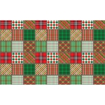A4 Single Sheet PATCHWORK PLAID Christmas Cardstock backing sheet
