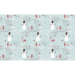 A4 Single Sheet SNOWMEN Christmas Cardstock backing sheet