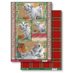 Westie CHRISTMAS PRESENT Die Cut Toppers & Backing Card Pack