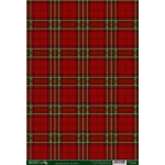 A4 Backing Background Card TARTAN DARK RED