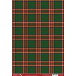 A4 Backing Background Card TARTAN DARK GREEN