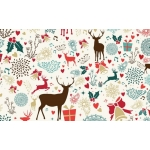 A4 Single Sheet REINDEER Christmas Cardstock backing sheet