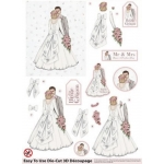 3D Die Cut Decoupage & Elements A4, Vintage Wedding