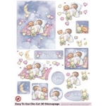 3D Die Cut Decoupage & Elements A4,  BABY GIRL
