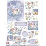 3D Die Cut Decoupage & Elements A4,  BABY BOY