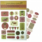 2 Christmas Fun Sticker Sheets, Sentiments & 'Buttons' Lynette Anderson Designs