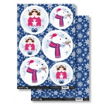 Angels & Polar bears CHRISTMAS FRIENDS Die Cut Toppers & Backing Card Pack