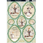 Kanban FESTIVE CHUMS Green, Die cut Toppers Sheet A4