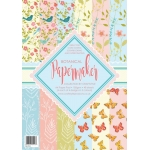 BOTANICAL Papermaker A4 Paper Stack  48sheets 170gsm background papers