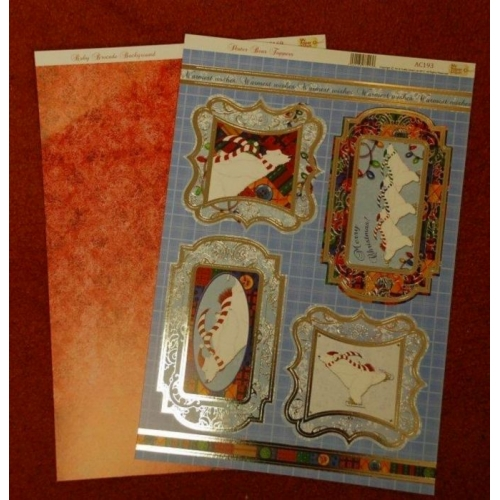 My Paper Stash Foiled Toppers WINTER SPARKLES GREETINGS AC306