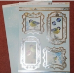 Die Cut Toppers & Cardstock Pack, Frost and Feathers, Birds, Christmas,