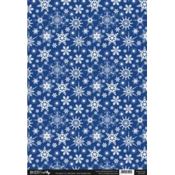 A4 Backing Background Card BLUE SNOWFLAKES