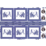 Kanban BLUE WILLOW Oriental Die cut Toppers Sheet A4