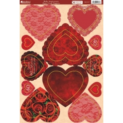 Kanban RUBY ANNIVERSARY Die cut Toppers Sheet A4