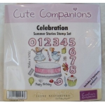 Unmounted Rubber Stamp Set CUTE COMPANIONS Summer Stories CELEBRATION numbers etc