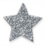 Fabulous Glitter Stars. Self Adhesive. SILVER