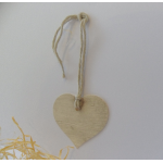 12 Rustic Country Heart Tags, Strung.  WOOD EFFECT (New)