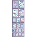 Die Cut Picture Sticker Sheet, Self adhesive, Cute Christmas Snowmen