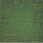 12 x 12 Background Paper, Christmas Wording on Green texture